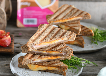 Toast s údeným syrom a šunkou